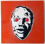 Banksy Bog Henge Man Original Stencil &amp;amp; Acrylic Paint on Canvas by Syd TV - print