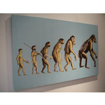 Darwin Was Wrong, Street Art Canvas by Syd TV - print