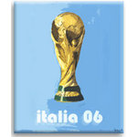 World Cup Italy 2006, Canvas Art Print by Luke Hollingworth - print