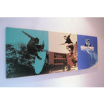 Board Sports Triple, Surfing Skateboard Snowboard, Canvas Art