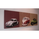 VW Volkswagon Camper Beetle Canvas Art Picture