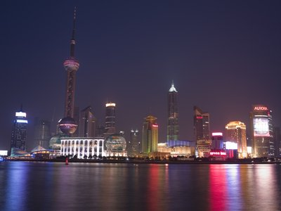 Fine Art Print of Shanghai Skyline by Assaf Frank