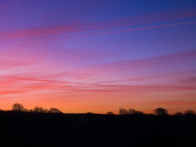 Fine Art Print of Field, sunrise, Haresfield Beacon by Assaf Frank