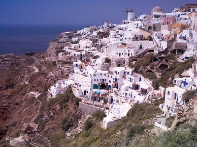 Fine Art Print of Greece, Cyclades, Santorini Island, View of Oia by Assaf Frank