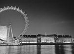 Fine Art Print of London eye and city hall at night by Assaf Frank