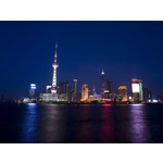 Shanghai Skyline Poster Art Print by Assaf Frank