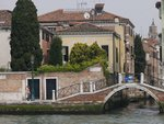 Italy, Venice, houses by canal, aerial view