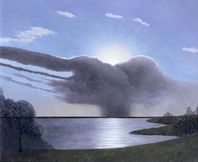 Draycote Cloud, 2004 (oil on canvas) by Anna Brain - print