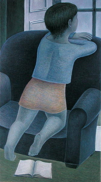 Girl on Chair, 2002 Poster Art Print by Ruth Addinall
