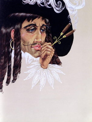 Fine Art Print of Captain Hook, from 'Peter Pan' by J.M. Barrie by Anne Grahame Johnstone