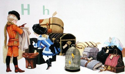 Fine Art Print of The letter 'H' by Janet and Anne Johnstone