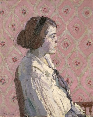 Portrait in Profile: Mary L Poster Art Print by Harold Gilman
