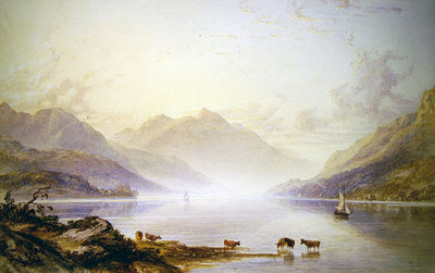 Loch Lomond at Dawn Poster Art Print by Anthony Vandyke Copley Fielding