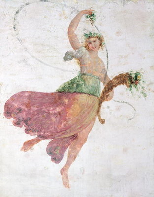 Young Dancer with a Cornucopia and a Bunch of Grapes Poster Art Print by Carlo Bevilacqua