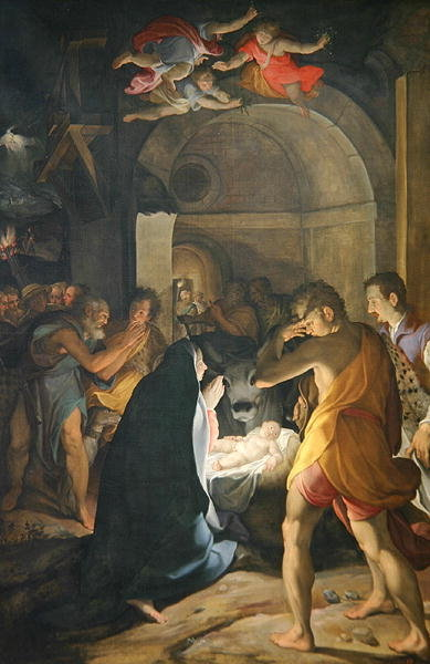 Fine Art Print of Adoration of the Shepherds, 1584 by Camillo Procaccini