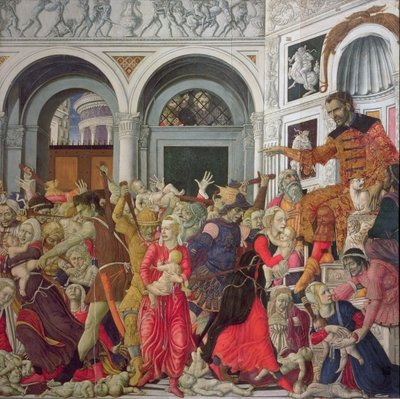 Fine Art Print of The Massacre of the Innocents by Matteo di Giovanni di Bartolo