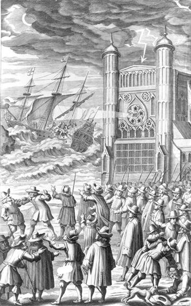 Fine Art Print of An allegory of the events surrounding King Charles I in 1649 by English School