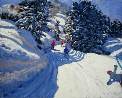 Ski Trail, Lofer, 2004 (oil on canvas) by Andrew Macara - print