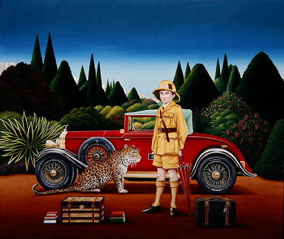 Red Rolls Royce, 1992 Poster Art Print by Anthony Southcombe