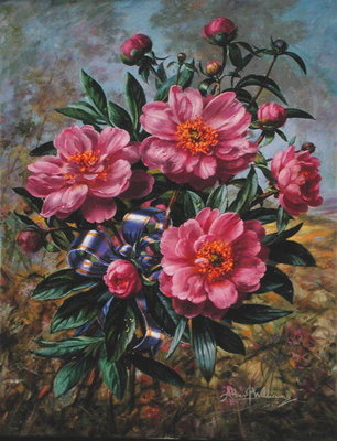 Fine Art Print of Elizabeth Peony, from the 'Golden Jubilee' series, 2002 by Albert Williams