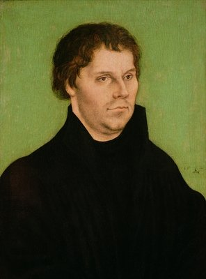 Fine Art Print of Portrait of Martin Luther, 1525 by Lucas, the Elder Cranach