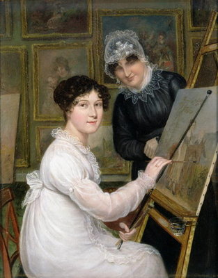 The Artist and her Mother Poster Art Print by Rolinda Sharples
