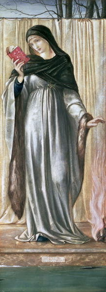Fine Art Print of Winter, 1869-70 by Sir Edward Burne-Jones