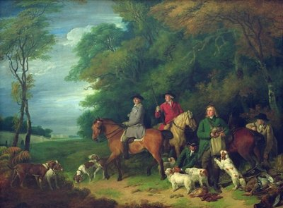 The Return from Shooting, 18th century by Francis Wheatley - print