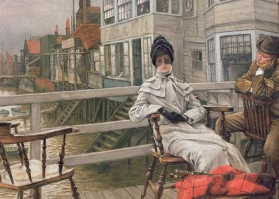 Waiting for the Ferry, c.1878 (panel) by James Jacques Joseph Tissot - print
