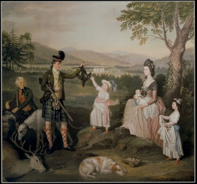 John, the 4th Duke of Atholl and his family, 1780 Poster Art Print by David Allan
