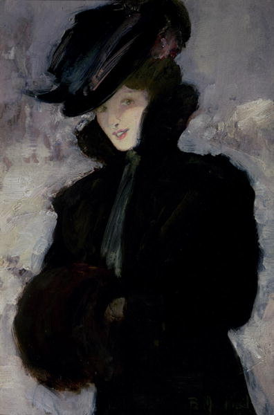 Fine Art Print of The Fur Coat by Bessie MacNicol