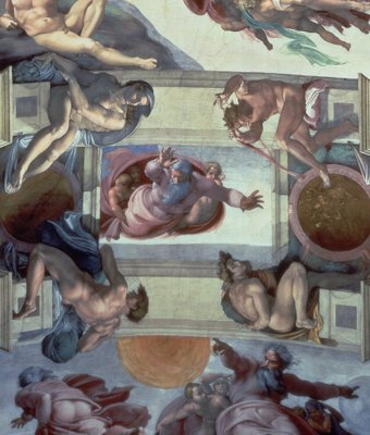 Fine Art Print of Sistine Chapel Ceiling by Michelangelo Buonarroti