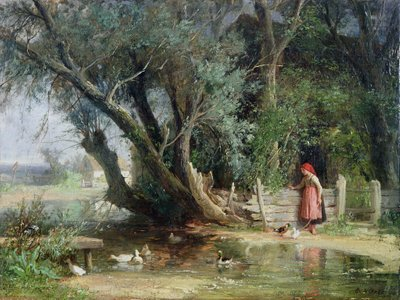 The Duck Pond by Eduard Heinel - print