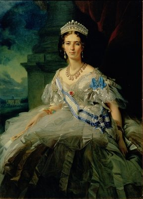 Portrait of Princess Tatiana Alexanrovna Yusupova, 1858 (oil on canvas) by Franz Xaver Winterhalter - print