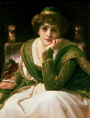 Desdemona (oil on canvas) by Frederic Leighton - print