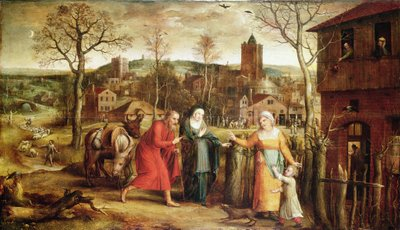 The Holy Family Turned Away from the Inn, 16th century by Jan Massys or Metsys - print