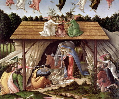Fine Art Print of Mystic Nativity, 1500 by Sandro Botticelli