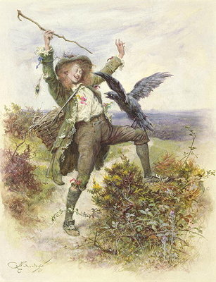 Barnaby Rudge and the Raven Grip by Frederick Barnard - print