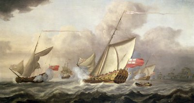 The Royal Yacht 'Mary' Exchanging Salutes, 18th century by Cornelis van de Velde - print