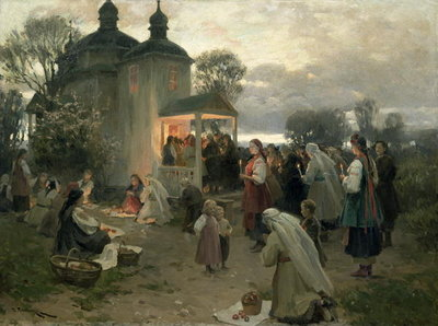 Fine Art Print of Easter Matins by Nikolai Pimonenko