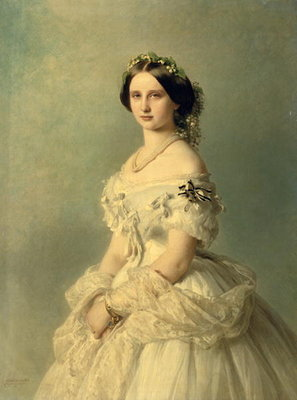 Portrait of Princess of Baden, 1856 (oil on canvas) by Franz Xaver Winterhalter - print