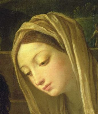 Fine Art Print of The Adoration of the Shepherds, detail of the Virgin, c.1640-42 by Guido Reni
