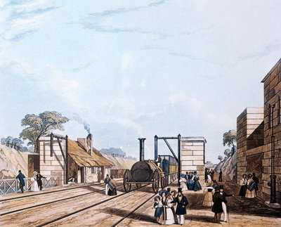 Liverpool and Manchester Railway: Taking water at Parkside, 1831 Poster Art Print by Daniel Havell