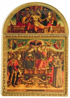 Coronation of the Virgin (altarpiece) (see also 33417) by Carlo Crivelli - print
