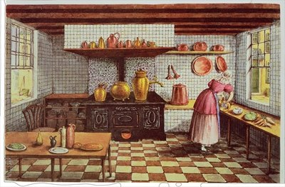Kitchen of the Hotel St.Lucas, in the Hoogstraat, Rotterdam, 1834 by Mary Ellen Best - print