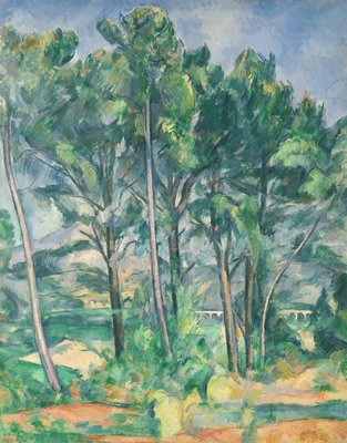 The Aqueduct (Montagne Sainte-Victoire seen through Trees), c.1885-87 (oil on canvas) by Paul Cezanne - print