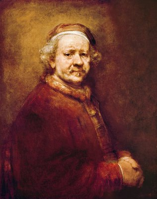 Self Portrait in at the Age of 63, 1669 (oil on canvas) by Rembrandt Harmensz. van Rijn - print