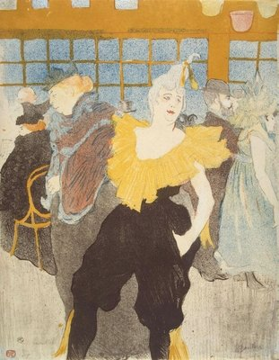 The Clownesse in the Moulin Rouge, 1897 Poster Art Print by Henri de Toulouse-Lautrec