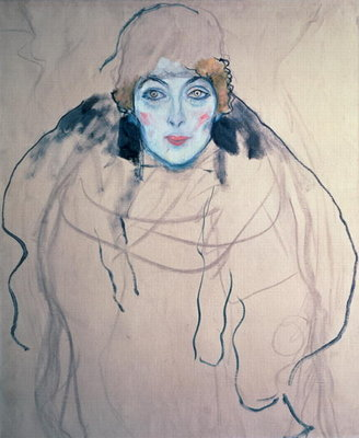 Fine Art Print of Head of a Woman by Gustav Klimt