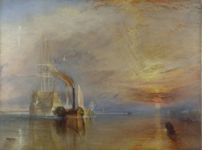 The Fighting Temeraire, 1839 (oil on canvas) by Joseph Mallord William Turner - print